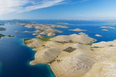 Aerial view of Kornati national park, Croatia