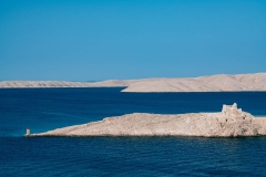 Scenic view by the sea at pag island in Croatia,