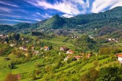 Pictoresque landscape of Samobor hills
