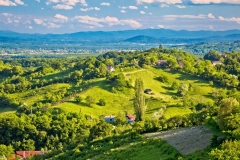 Picturesque green hills of Plesivica