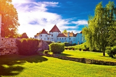 Old town of Varazdin park and landmarks view at sunset